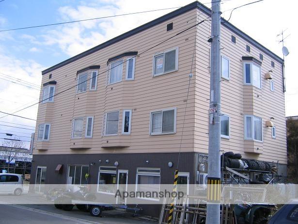 北海道函館市、深堀町駅徒歩9分の築25年 3階建の賃貸アパート