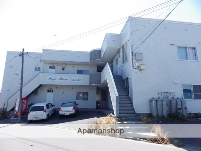 北海道函館市、五稜郭駅バス10分東富岡下車後徒歩10分の築27年 2階建の賃貸アパート