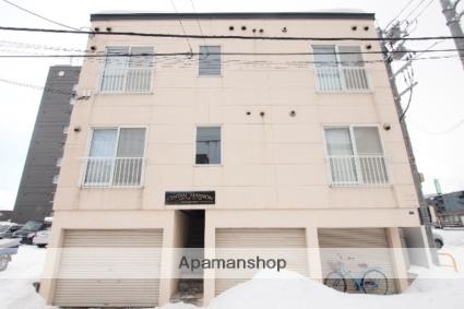 北海道札幌市豊平区、白石駅徒歩19分の築18年 3階建の賃貸アパート