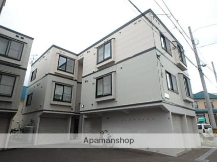 北海道札幌市豊平区、美園駅徒歩19分の築19年 3階建の賃貸アパート