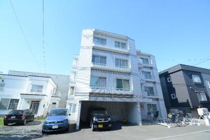 北海道札幌市豊平区、中の島駅徒歩14分の築27年 4階建の賃貸マンション