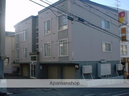 北海道札幌市豊平区、美園駅徒歩16分の築20年 3階建の賃貸アパート