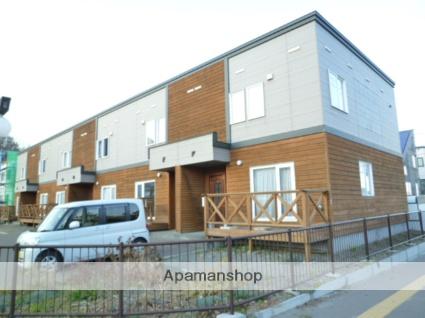 北海道札幌市西区、宮の沢駅JRバスバス23分福井8丁目下車後徒歩2分の築18年 2階建の賃貸テラスハウス