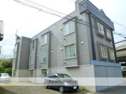 北海道札幌市西区、発寒駅徒歩16分の築25年 3階建の賃貸アパート