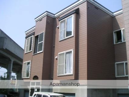 北海道札幌市西区、八軒駅徒歩6分の築20年 3階建の賃貸アパート