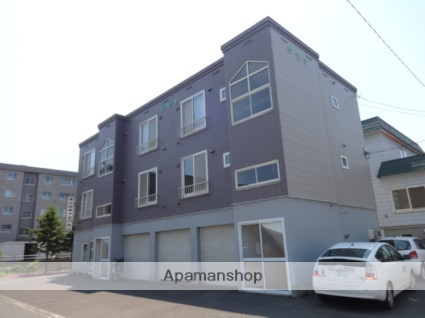 北海道札幌市西区、発寒中央駅徒歩5分の築20年 3階建の賃貸アパート