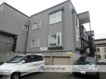 北海道札幌市西区、発寒駅徒歩7分の築23年 3階建の賃貸アパート