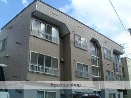 北海道札幌市西区、琴似駅徒歩18分の築27年 3階建の賃貸アパート