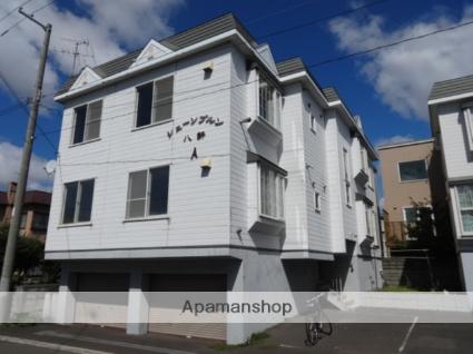 北海道札幌市西区、八軒駅徒歩4分の築26年 3階建の賃貸アパート