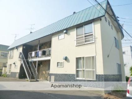 北海道札幌市西区、琴似駅JRバスバス15分山の手1−11下車後徒歩2分の築35年 2階建の賃貸アパート