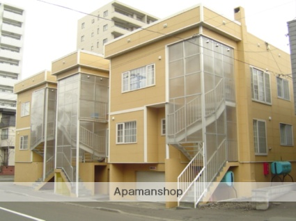 北海道札幌市中央区、円山公園駅徒歩10分の築37年 3階建の賃貸アパート