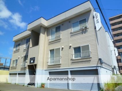 北海道札幌市西区、発寒駅徒歩13分の築30年 3階建の賃貸アパート
