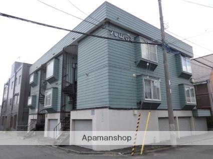 北海道札幌市西区、琴似駅JRバスバス6分山の手3−8下車後徒歩1分の築31年 3階建の賃貸アパート