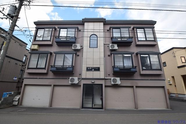 北海道札幌市東区、環状通東駅徒歩14分の築16年 2階建の賃貸アパート