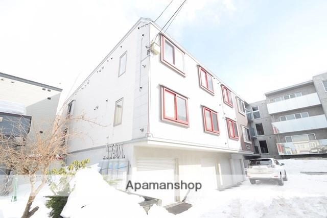 北海道札幌市東区、環状通東駅徒歩7分の築10年 3階建の賃貸アパート