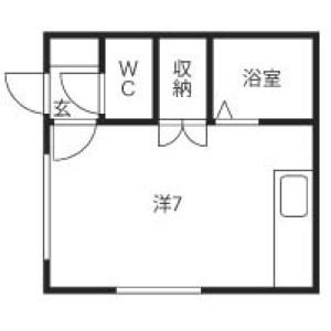 北栄ハイツ[1R/18m2]の間取図
