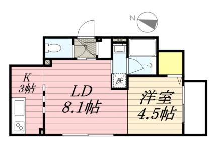 LBOX札幌[1LDK/35.03m2]の間取図