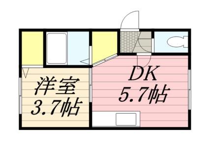 みやびあん札幌[1DK/22.68m2]の間取図