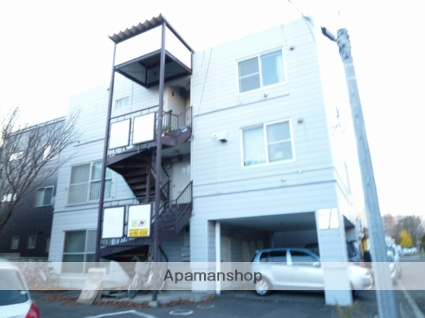 北海道札幌市東区、北34条駅中央バスバス15分伏古10−2下車後徒歩3分の築33年 3階建の賃貸マンション