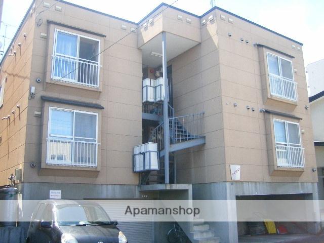 北海道札幌市東区、新琴似駅徒歩18分の築20年 3階建の賃貸アパート