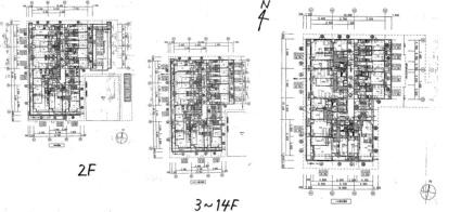 レジディア南1条[1K/21.23m2]の配置図