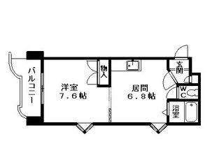 EXCELLⅡ[1DK/30.69m2]の間取図