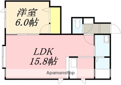 スターハイツK[1LDK/54.5m2]の間取図