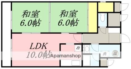 メゾンクレール富士見[2LDK/55.04m2]の間取図