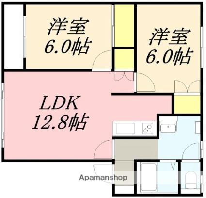 レジデンス21[2LDK/59.8m2]の間取図