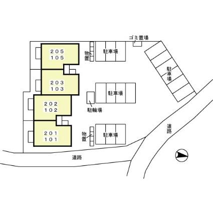 青森県八戸市大字白銀町字田端[2LDK/53.65m2]の配置図