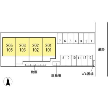 サニースクエア[1LDK/43.62m2]の配置図
