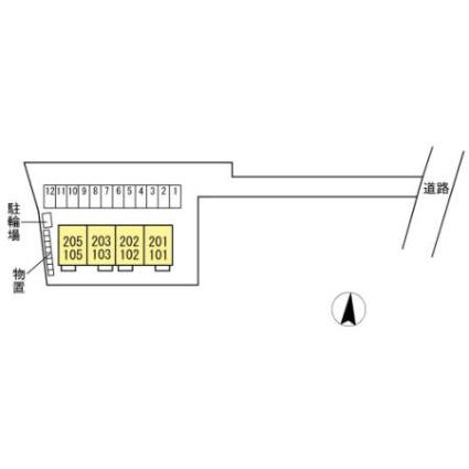 シャルマン[1LDK/43.62m2]の配置図