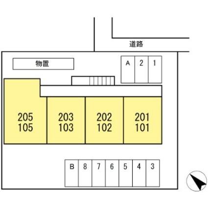 コモンライフ白銀[2K/35m2]の配置図