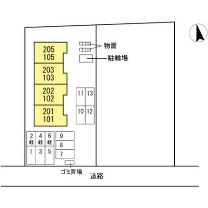 ウィット山田[2LDK/54.89m2]の配置図