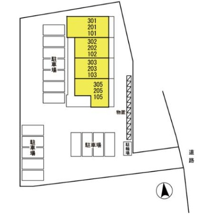 ホワイトガーデン[1LDK/33.39m2]の配置図