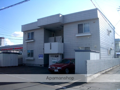 青森県弘前市、弘高下駅徒歩2分の築28年 2階建の賃貸アパート