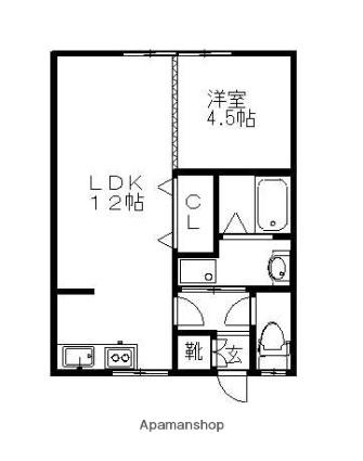 コーポ成田[1LDK/36.3m2]の間取図