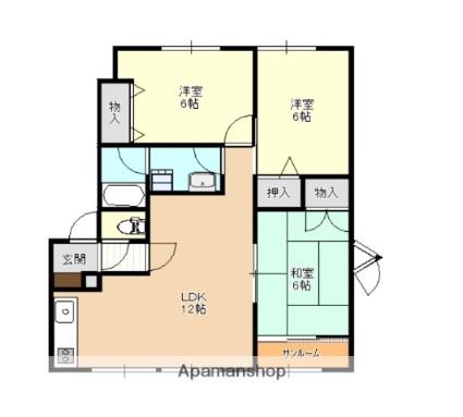 青森県弘前市大字取上3丁目[3LDK/87.2m2]の間取図