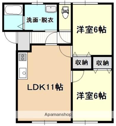 ビックハウスA[2LDK/59.62m2]の間取図