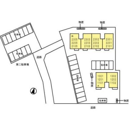 岩手県盛岡市本町通1丁目[2LDK/50.47m2]の配置図