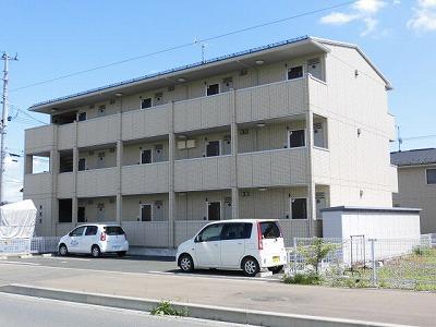 岩手県盛岡市の築6年 3階建の賃貸アパート