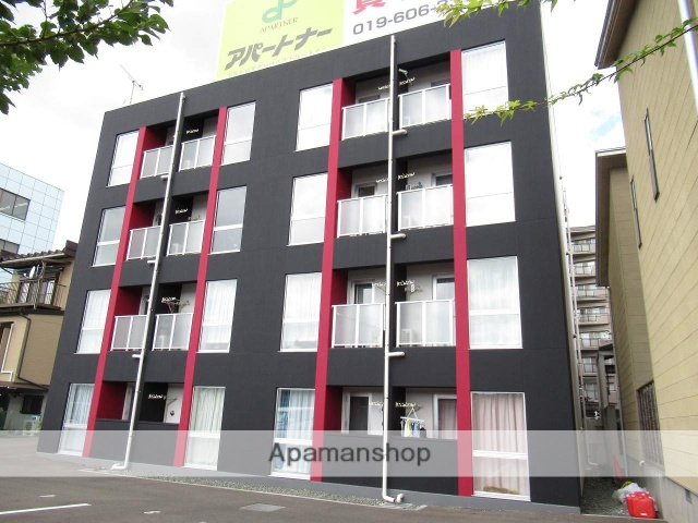 岩手県盛岡市、仙北町駅徒歩10分の新築 4階建の賃貸マンション