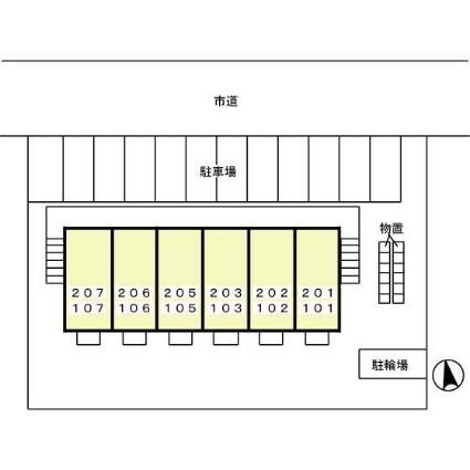 岩手県盛岡市西仙北2丁目[1K/30.03m2]の配置図