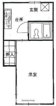 岩手県盛岡市東仙北2丁目[1K/23.5m2]の間取図
