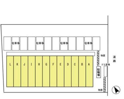 岩手県盛岡市厨川4丁目[1SDK/42.65m2]の配置図