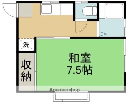 岩手県滝沢市穴口[1K/24.79m2]の間取図