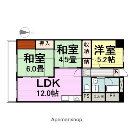パルシティ仙台[3LDK/67.76m2]の間取図