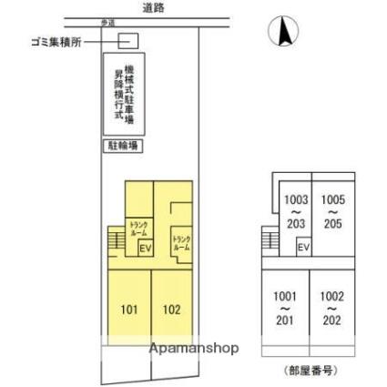 アロッジオ金剛[2LDK/65.43m2]の配置図