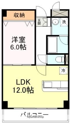 サークル10ビル[1LDK/43.02m2]の間取図