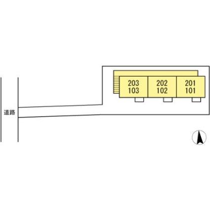 宮城県仙台市青葉区八幡2丁目[1LDK/29.5m2]の配置図